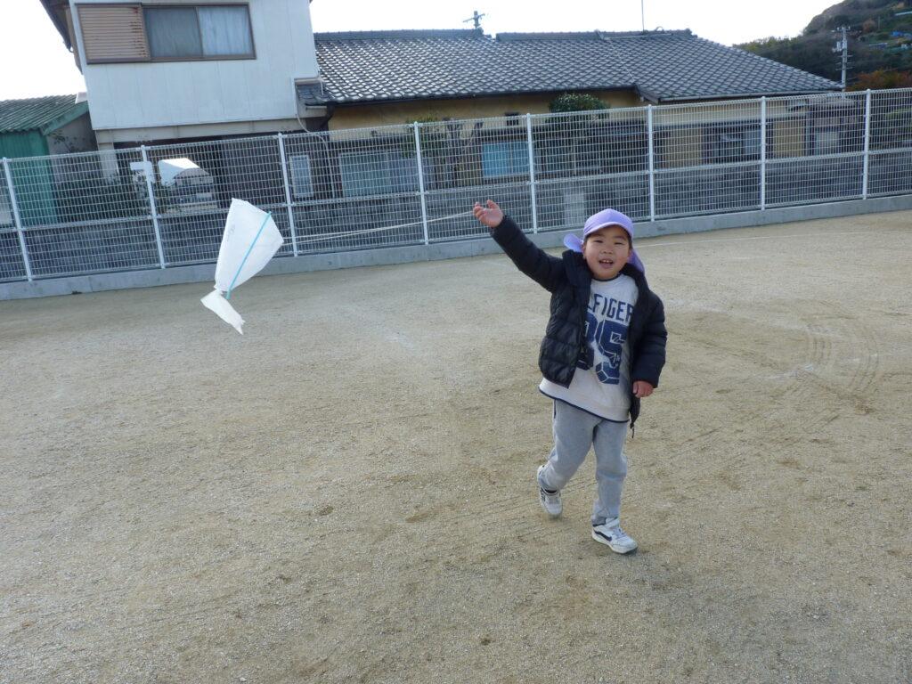 風がよく吹いていて高く上がりました!