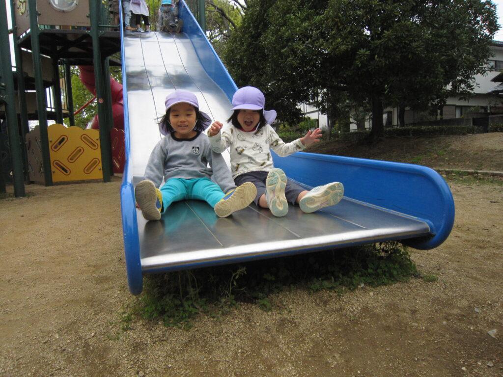 公園で元気いっぱい遊びました!